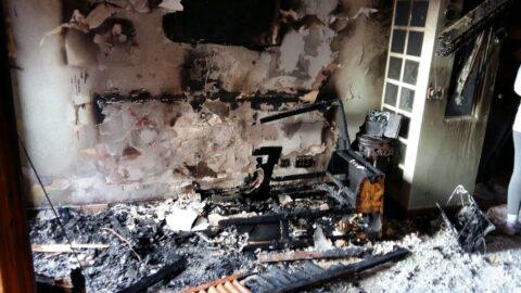 Incendio en vivienda de la Solana