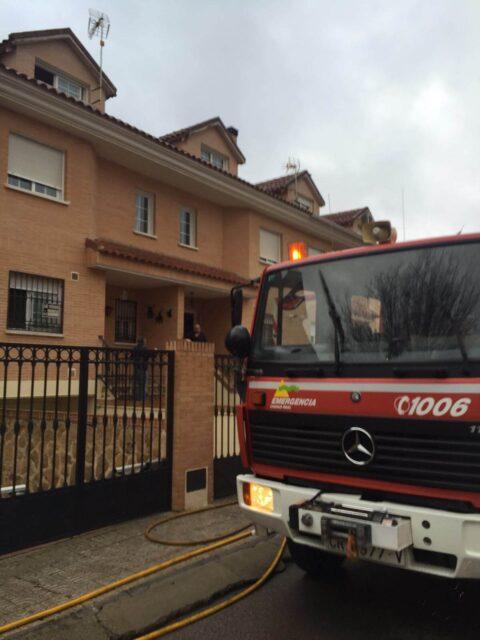 Incendio en vivienda en Puertollano