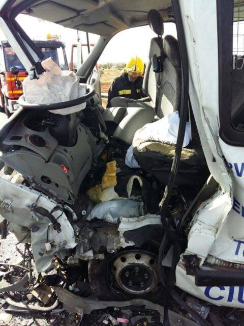 Accidente de tráfico por colisión en  Valdepeñas