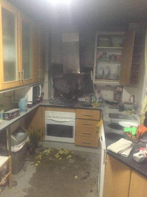 Incendio en cocina en Puertollano
