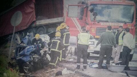 Accidente de tráfico  en Alcolea de Calatrava