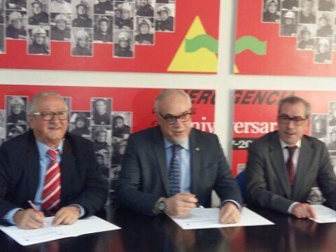 Convenio de colaboración para la formación entre Emergencia Ciudad Real y  el Colegio oficial de Graduados e Ingenieros técnicos Industriales de Ciudad Real .